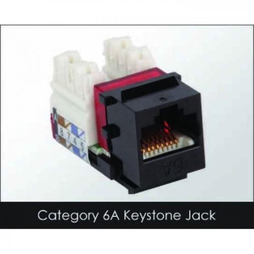 کیستون cat6a بدون شیلد یونیکام مدل (UC-JCK6A) - Keystone Cat6a -UTP-Unicom
